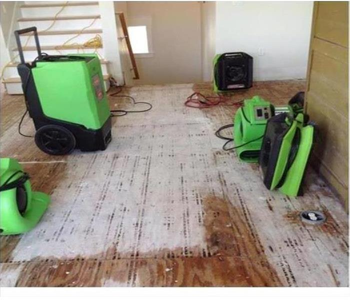 Water damage in home being repaired