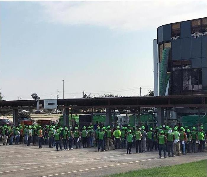 Fleet of SERVPRO employees ready to deploy to a disaster