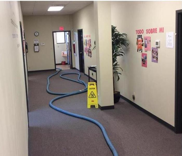 Water Damage in Hallway at a daycare