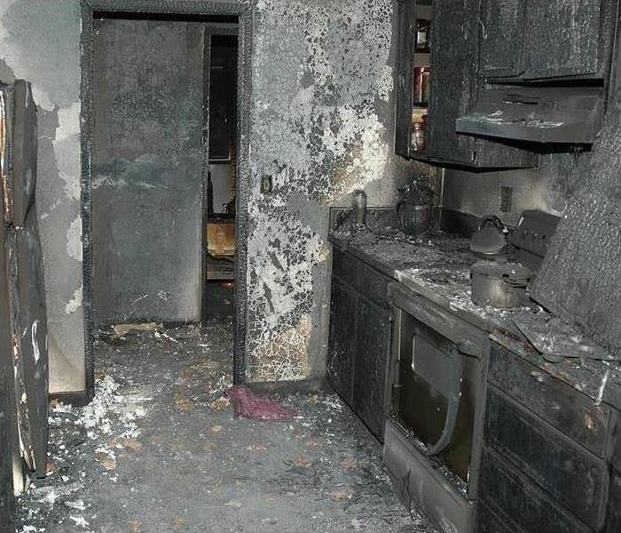 Room with fire damage in Tampa