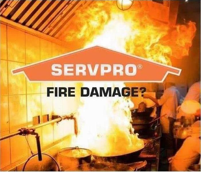 Picture of a fire with SERVPRO logo in the middle of it
