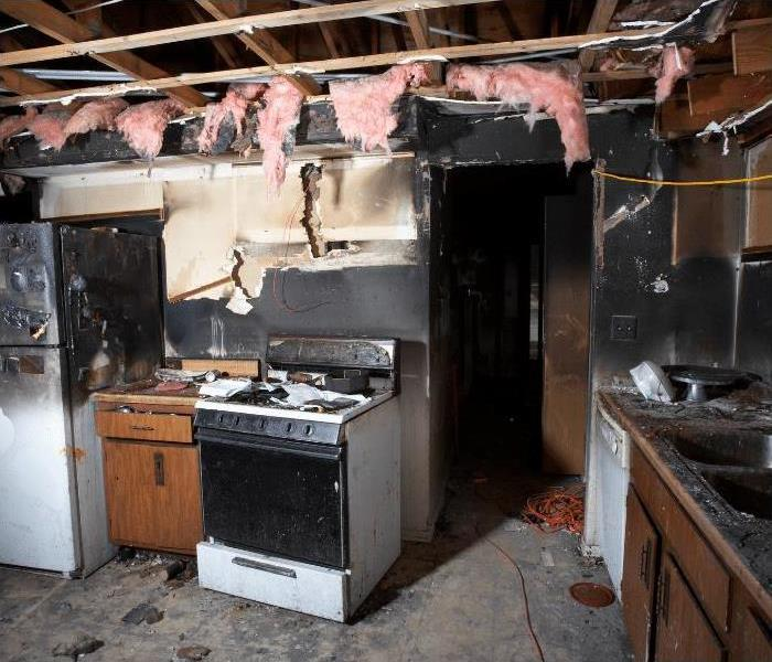kitchen fire damage in Tampa, Florida